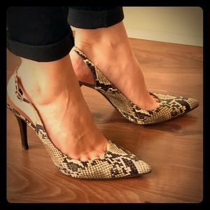 Snakeskin Stuart Weitzman heels